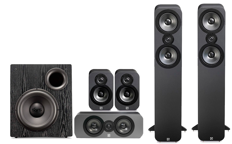 Q-Acoustics 3050 Cinema Pack + PB12 NSD - 28800