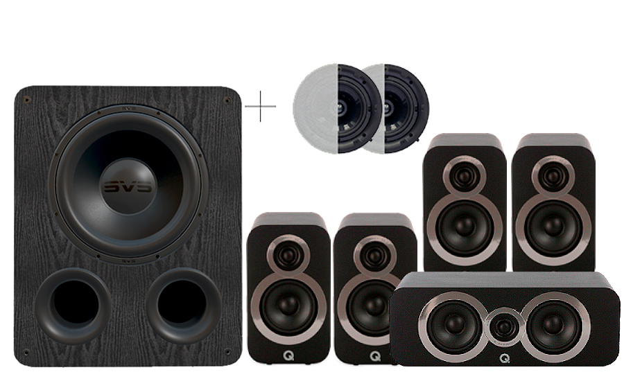 Q-Acoustics 3010i Cinema Pack + PB 1000 ATMOS - 29094