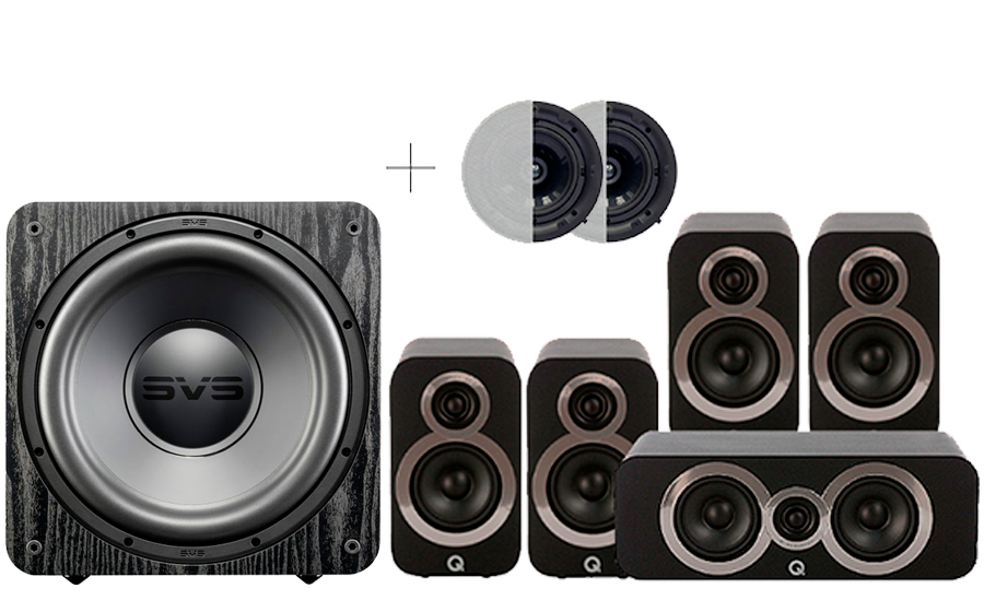 Q-Acoustics 3010i Cinema Pack + SB 1000 ATMOS - 29095