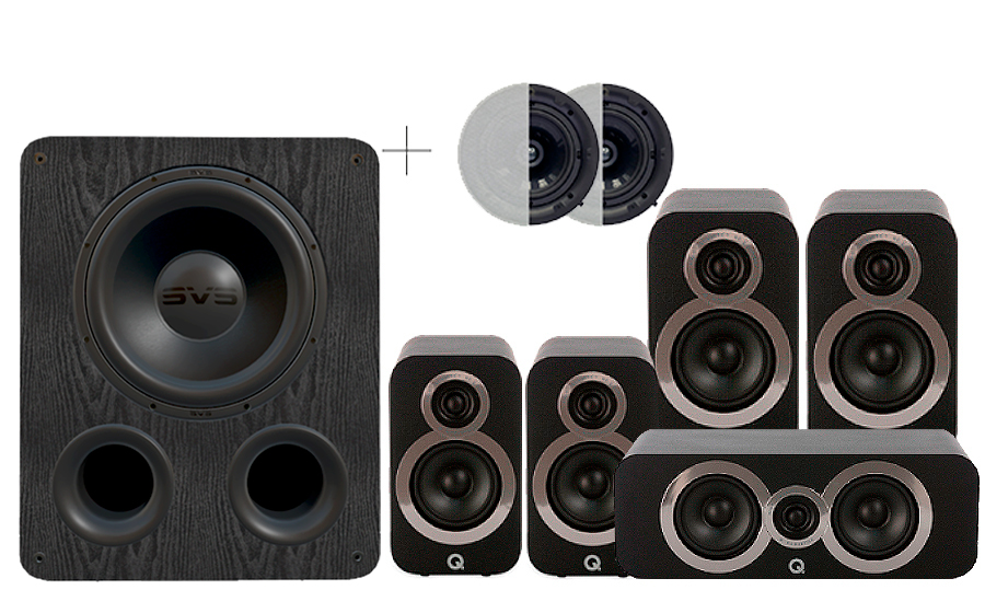 Q-Acoustics 3020i Cinema Pack + PB 1000 ATMOS - 29097