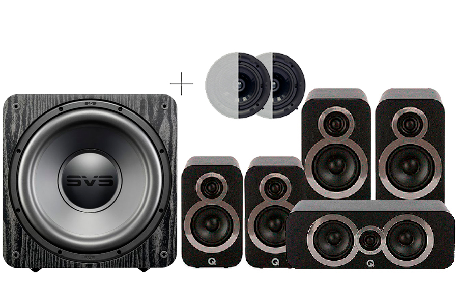 Q-Acoustics 3020i Cinema Pack + SB 1000 ATMOS - 29098
