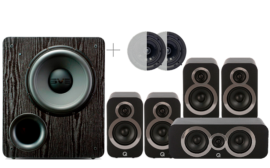 Q-Acoustics 3010i Cinema Pack + PB 2000 ATMOS - 29101