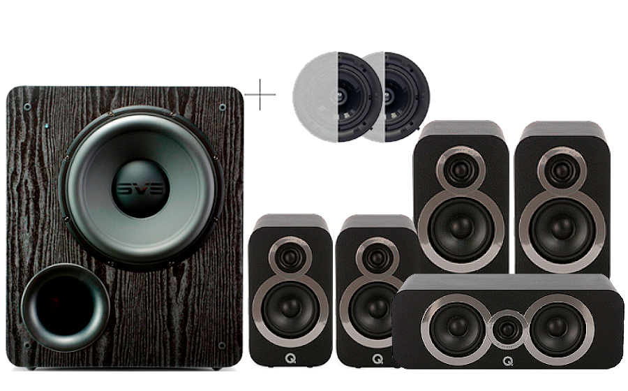 Q-Acoustics 3020i Cinema Pack + PB 2000 ATMOS - 29103