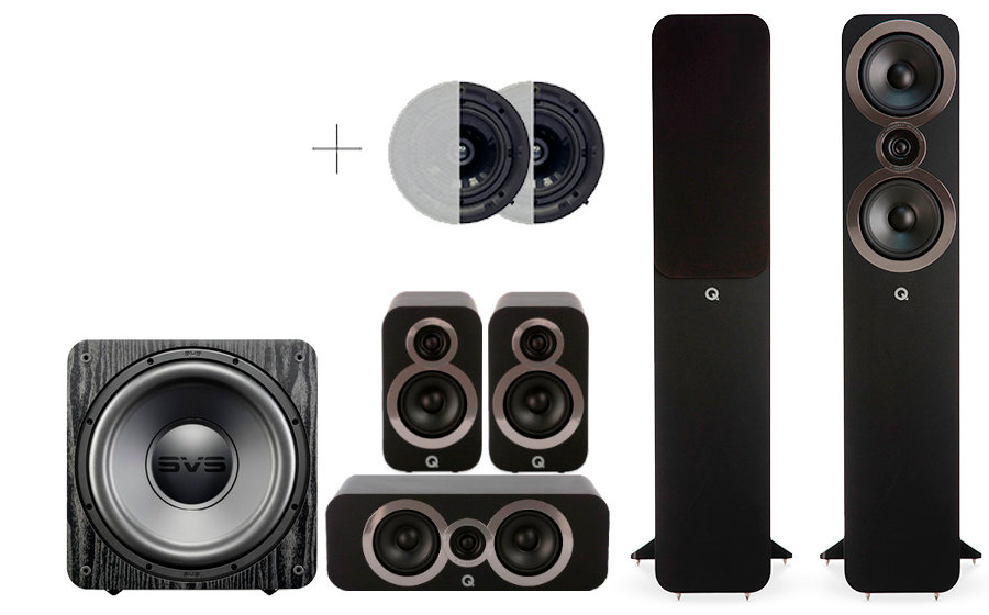 Q-Acoustics 3050i Cinema Pack + SB 1000 ATMOS - 29104