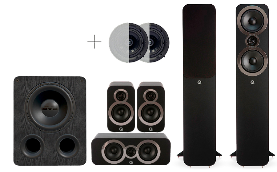 Q-Acoustics 3050i Cinema Pack + PB 1000 ATMOS - 29105