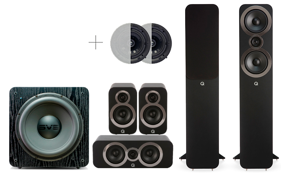 Q-Acoustics 3050i Cinema Pack + SB 2000 ATMOS - 29106