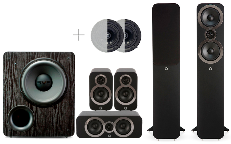 Q-Acoustics 3050i Cinema Pack + PB 2000 ATMOS - 29107