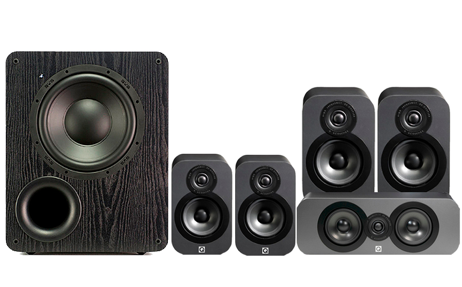 Q-Acoustics 3020 CINEMA PACK + PB1000 - 32158