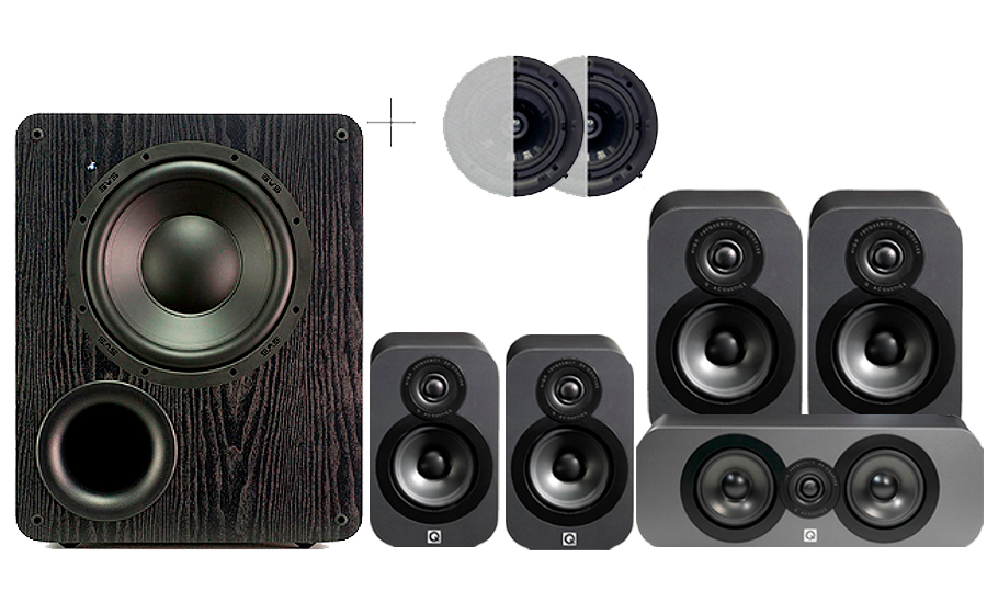 Q-Acoustics 3020 CINEMA PACK + PB1000 ATMOS - 32162