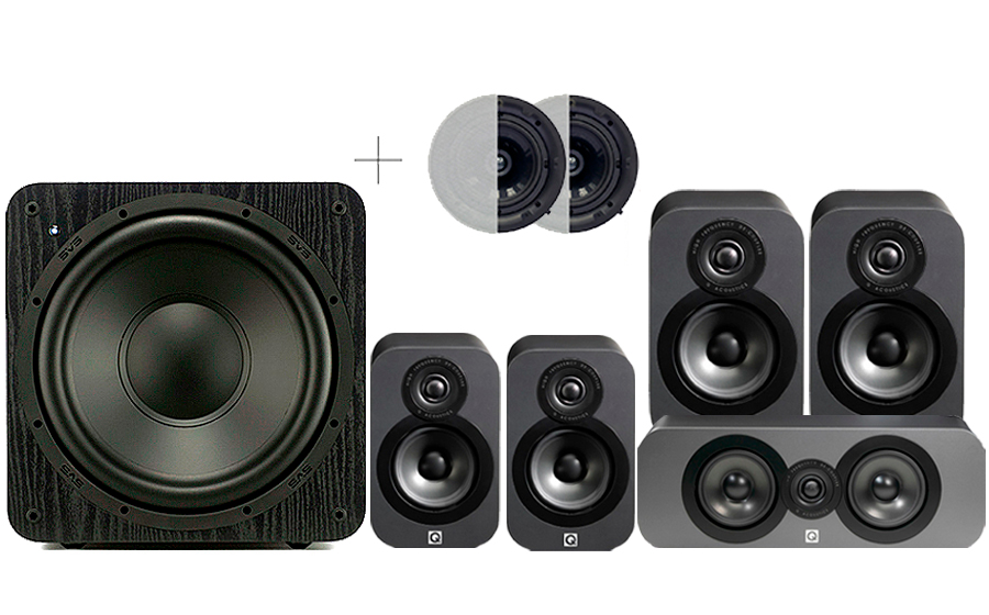 Q-Acoustics 3020 CINEMA PACK + SB1000 ATMOS - 32163