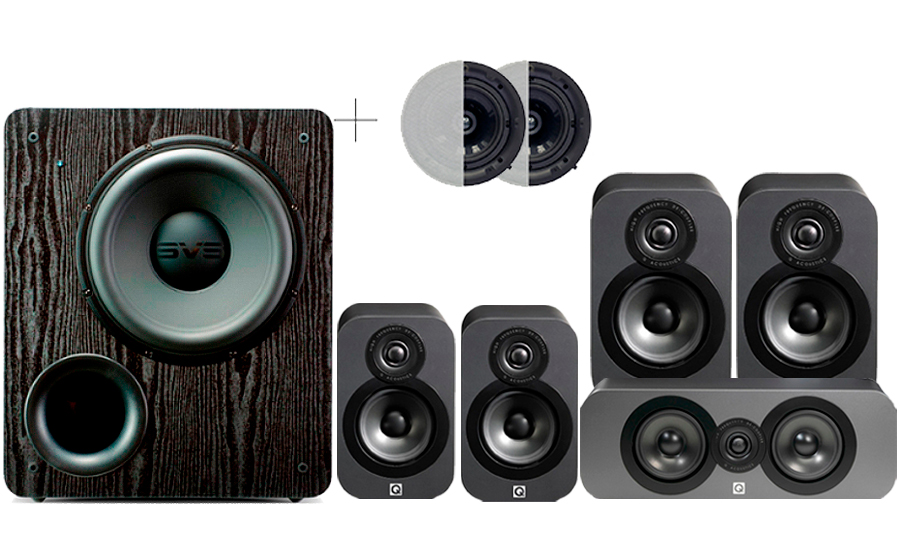 Q-Acoustics 3020 CINEMA PACK + PB2000 ATMOS - 32164