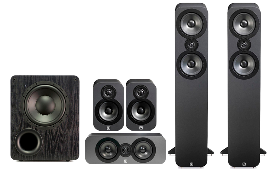 Q-Acoustics 3050 CINEMA PACK + PB 1000 - 32167