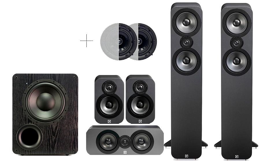 Q-Acoustics 3050 CINEMA PACK + PB 1000 ATMOS - 32171