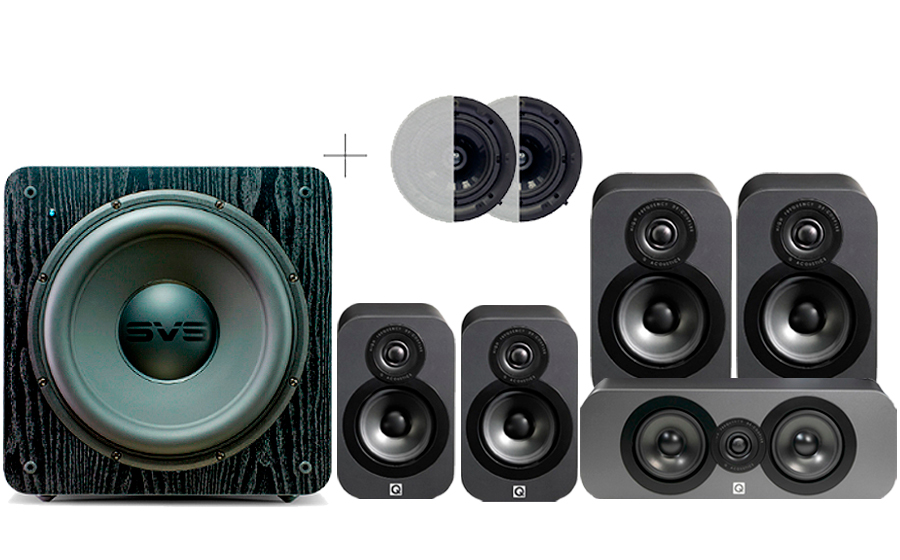 Q-Acoustics 3020 CINEMA PACK + SB2000 ATMOS - 32488