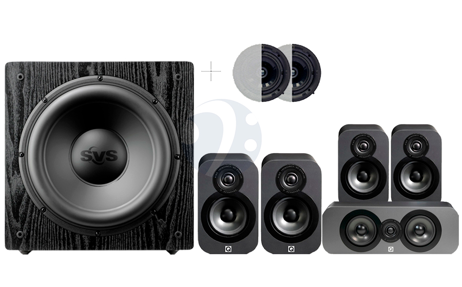 Q-Acoustics QA3020 CINEMA PACK + SB12-NSD ATMOS - 32496