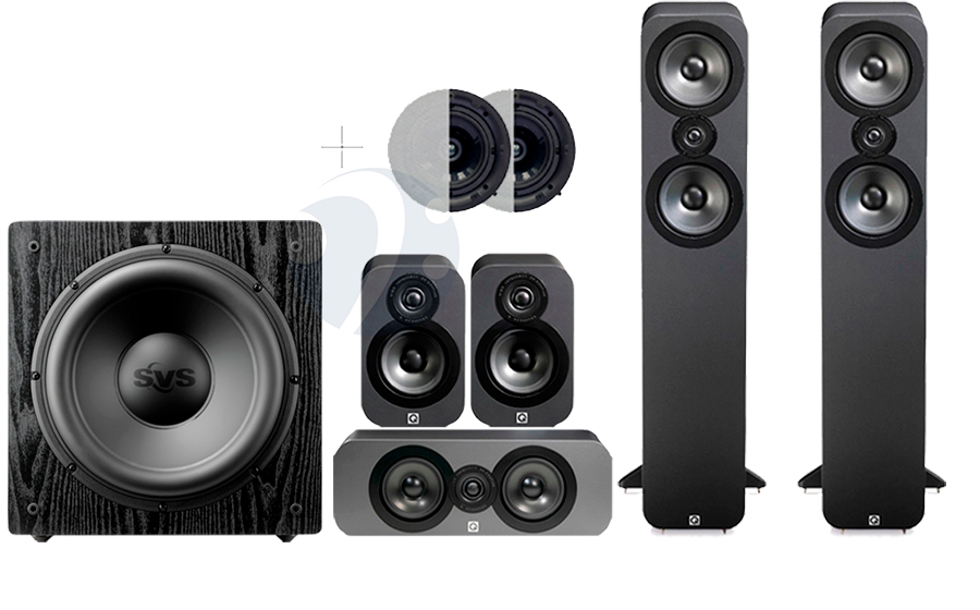 Q-Acoustics QA3050 CINEMA PACK + SB12-NSD ATMOS - 32497