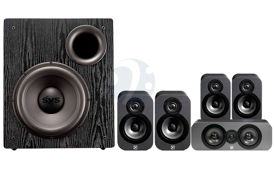 Q-Acoustics QA3020 CINEMA PACK+ PB12-NSD - 32498