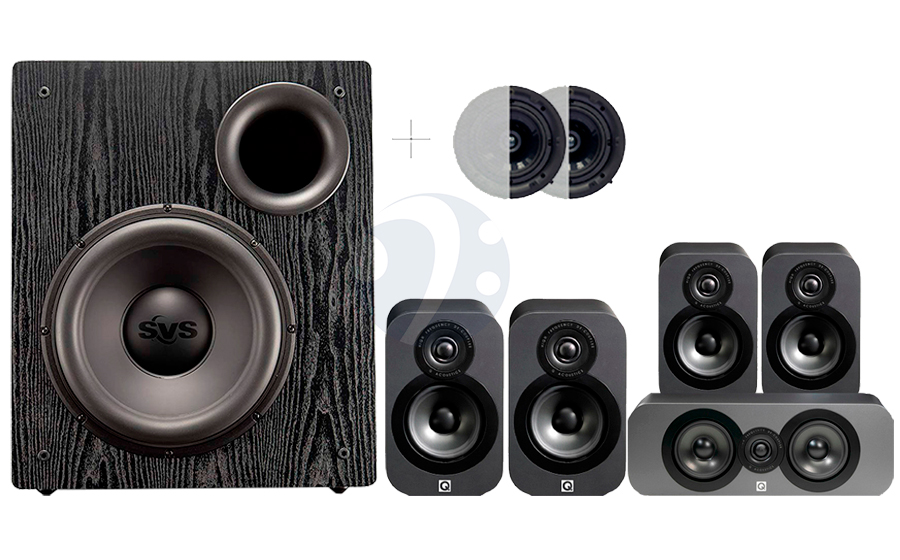 Q-Acoustics QA3020 CINEMA PACK+ PB12-NSD ATMOS - 32500