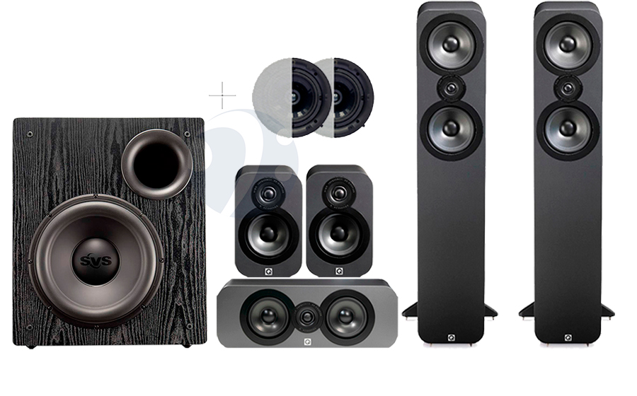 Q-Acoustics QA3050 CINEMA PACK + PB12 NSD ATMOS - 32502