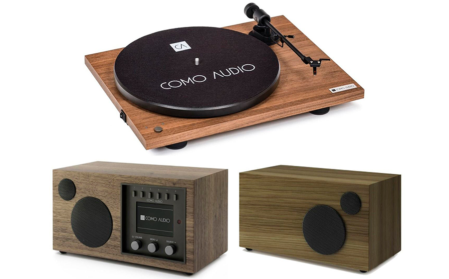 Como Audio Bluetooth Turntable + Solo + Ambient Walnut - 32815