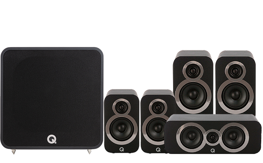 Q-Acoustics 3020i Cinema Pack + Q B12 - 41325