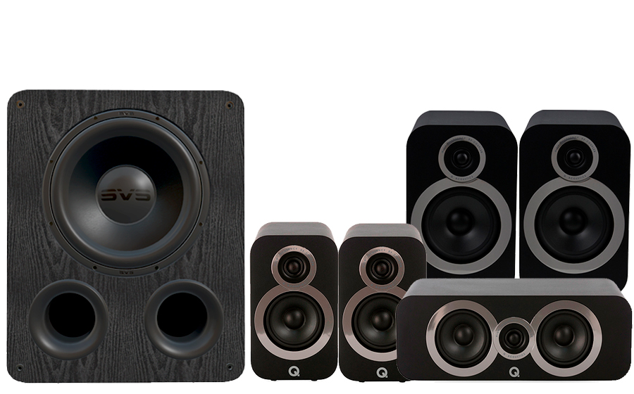 Q-Acoustics 3030i Cinema Pack + PB1000 - 41362