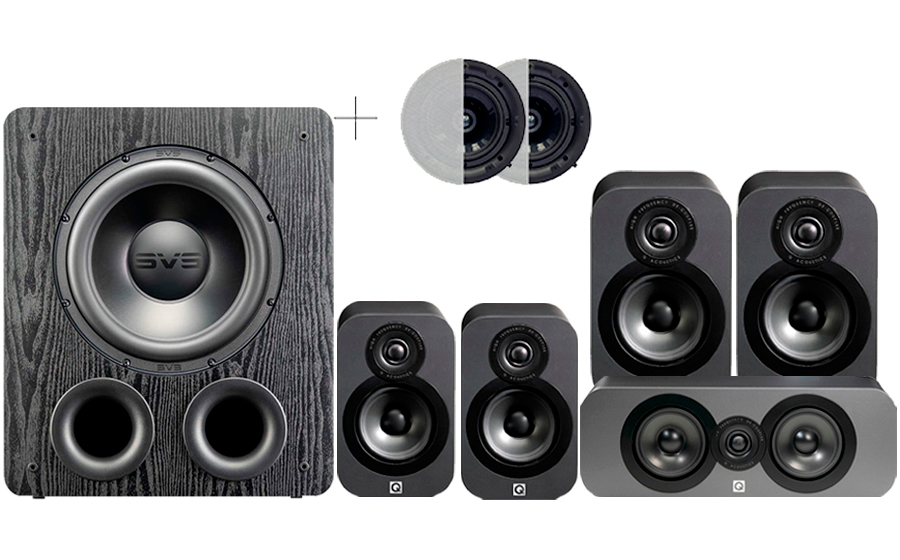 Q-Acoustics 3020 CINEMA PACK + PB2000PRO ATMOS - 41573
