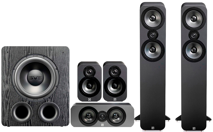 Q-Acoustics 3050 CINEMA PACK+ PB 2000PRO - 41574