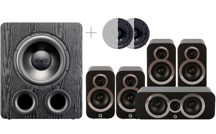 Q-Acoustics 3010i Cinema Pack + PB 2000PRO ATMOS - 41575