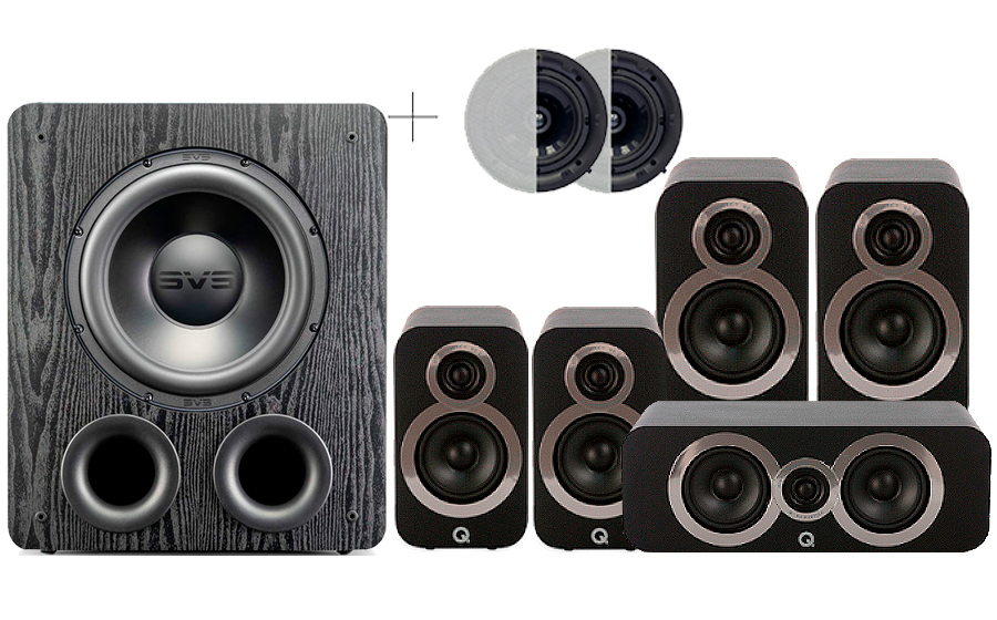 Q-Acoustics 3020i Cinema Pack + PB 2000PRO ATMOS - 41576