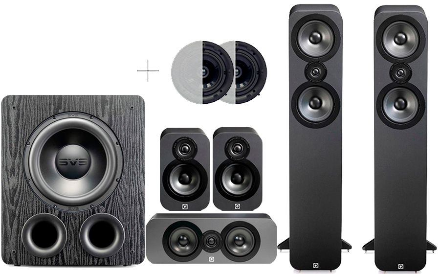 Q-Acoustics 3050 CINEMA PACK + PB 2000PRO ATMOS - 41577