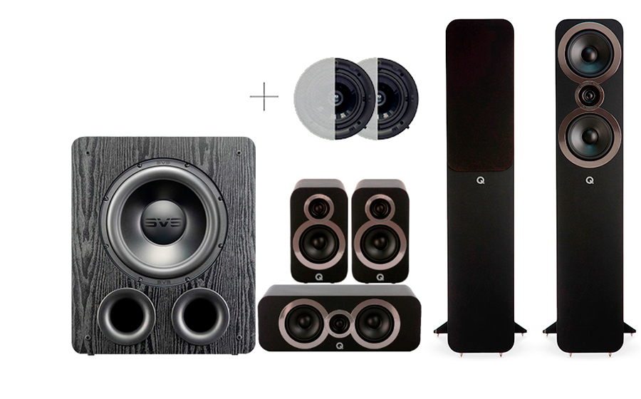 Q-Acoustics 3050i Cinema Pack + PB 2000PRO ATMOS - 41579
