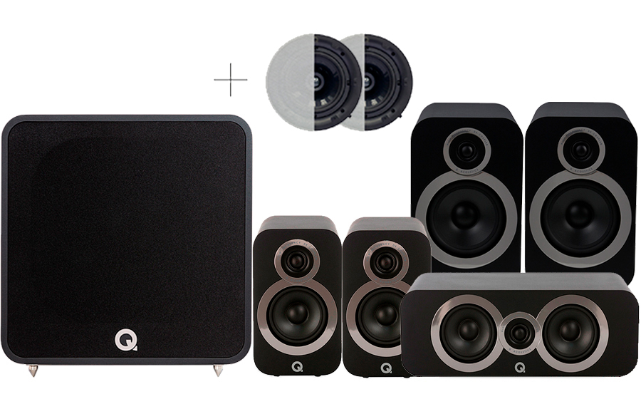 Q-Acoustics 3030i Cinema Pack + QB12 ATMOS - 41586