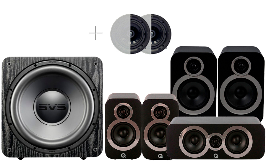 Q-Acoustics 3030i Cinema Pack + SB1000 ATMOS - 41587