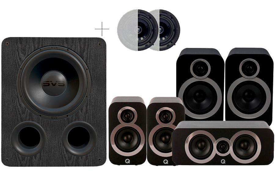 Q-Acoustics 3030i Cinema Pack + PB1000 ATMOS - 41588