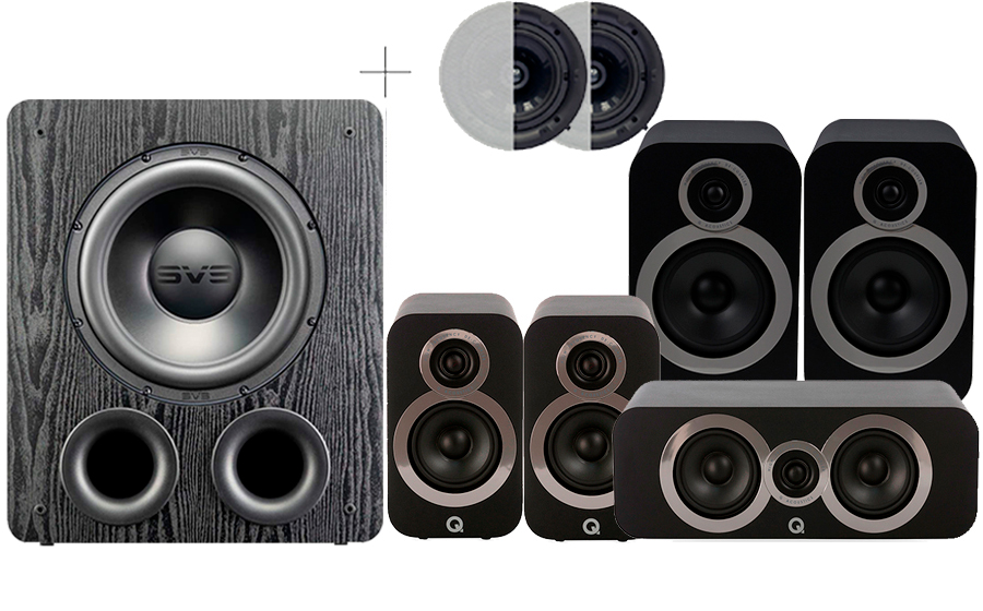 Q-Acoustics 3030i Cinema Pack + PB2000 PRO ATMOS - 41590
