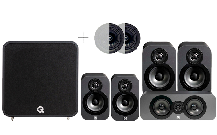 Q-Acoustics 3020 CINEMA PACK + QB12 ATMOS - 42022