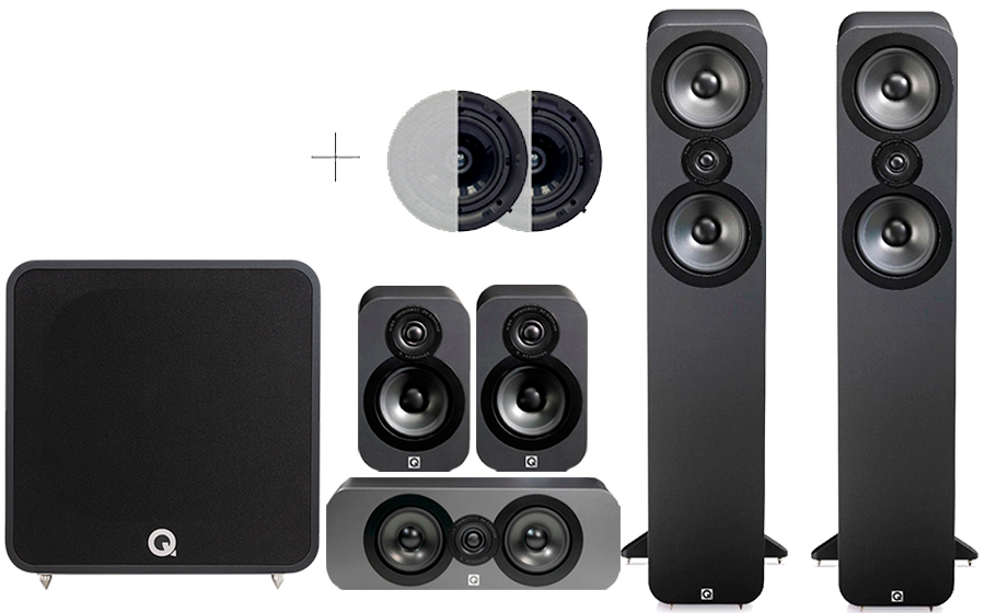 Q-Acoustics 3050 CINEMA PACK + QB12 ATMOS - 42024