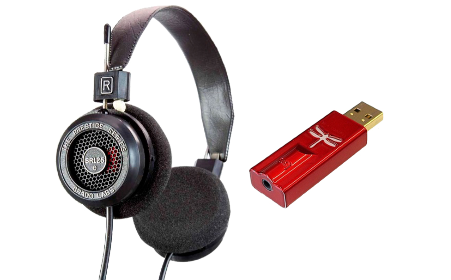 Grado SR125e + DragonFly Red - 42312