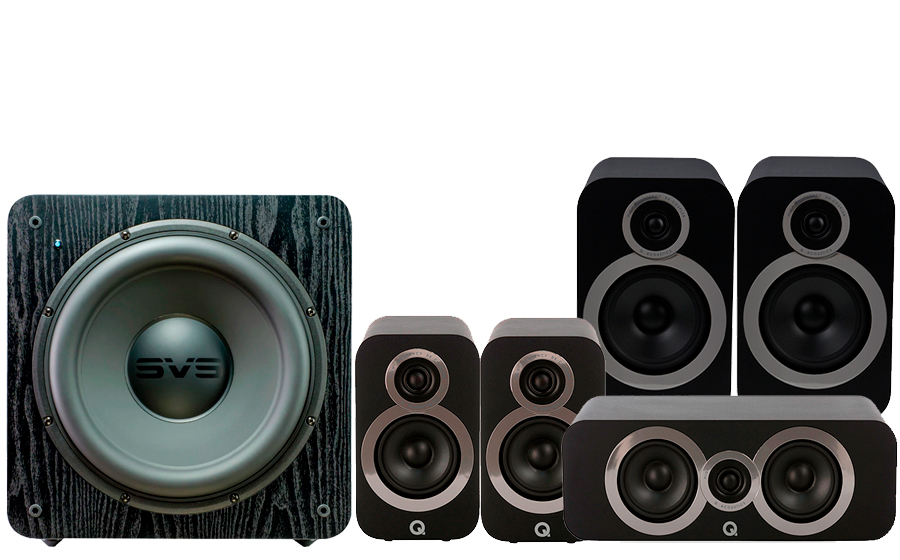 Q-Acoustics 3030i Cinema Pack + SB2000 - 42923