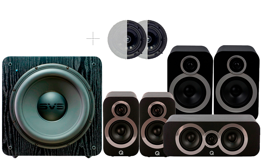 Q-Acoustics 3030i Cinema Pack + SB2000 ATMOS - 42924