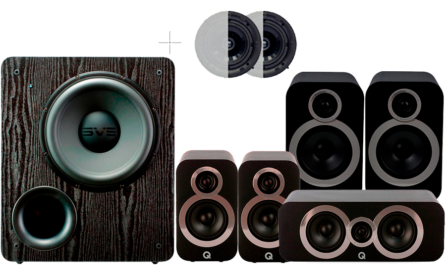Q-Acoustics 3030i Cinema Pack + PB2000 ATMOS - 42925